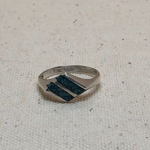 Jewelry - Vintage turquoise silver ring size 5